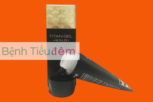 Hình ảnh hộp và tuyp Titan gel Gold