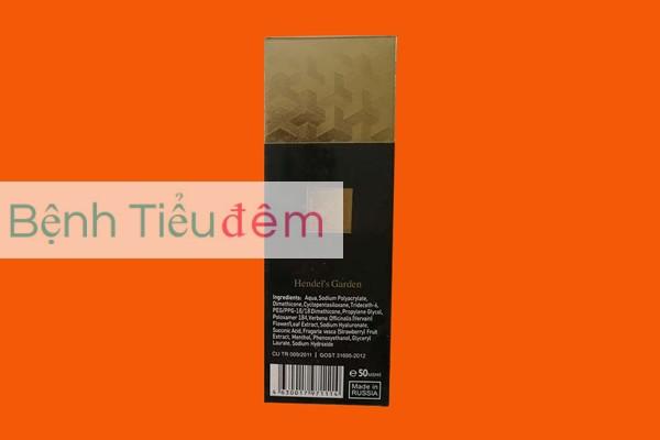 Hình ảnh mặt sau hộp Titan Gel Gold có mã vạch